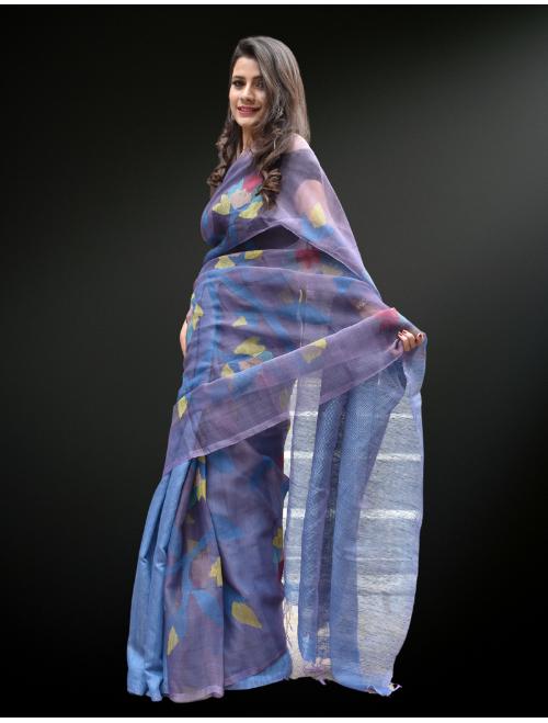 Gulbahar-Jamdani Silk