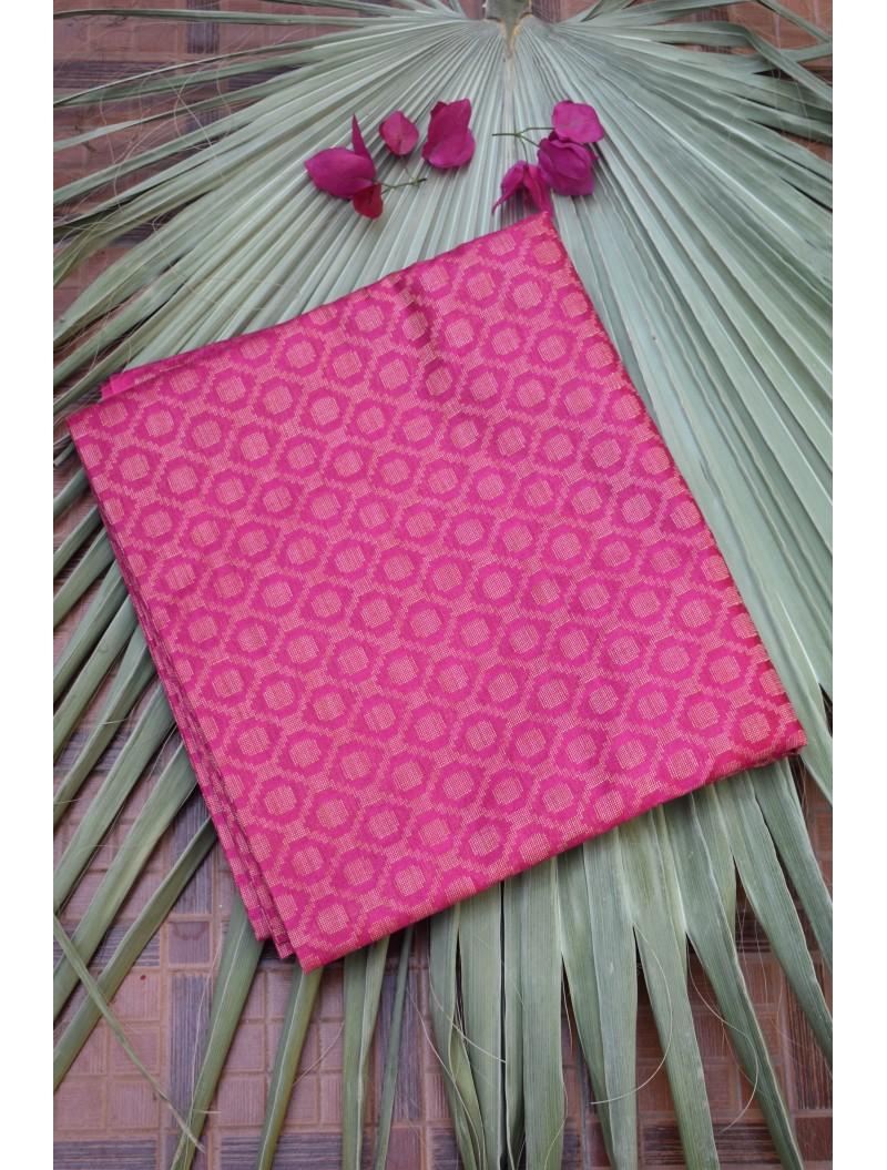 Katan Silk Pink Unstitched Set