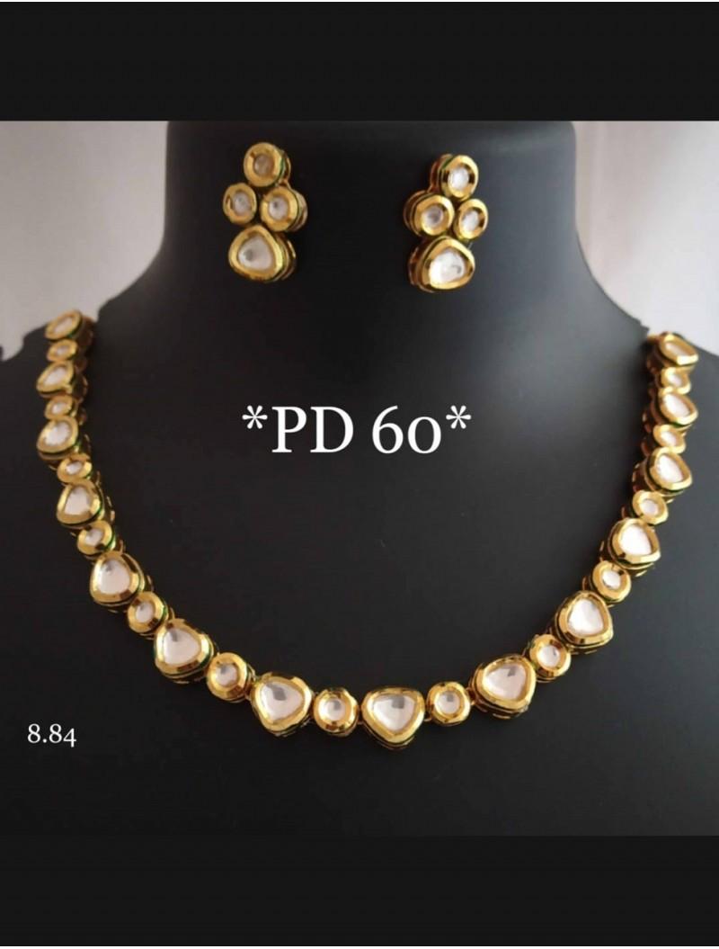 Golden Jhumki Necklace Set