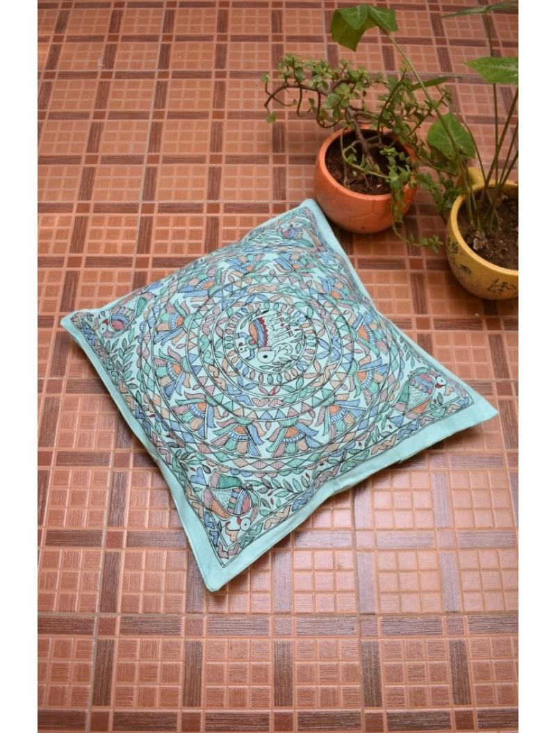 Gaja Madhubani Cushion Cover-Set of 4