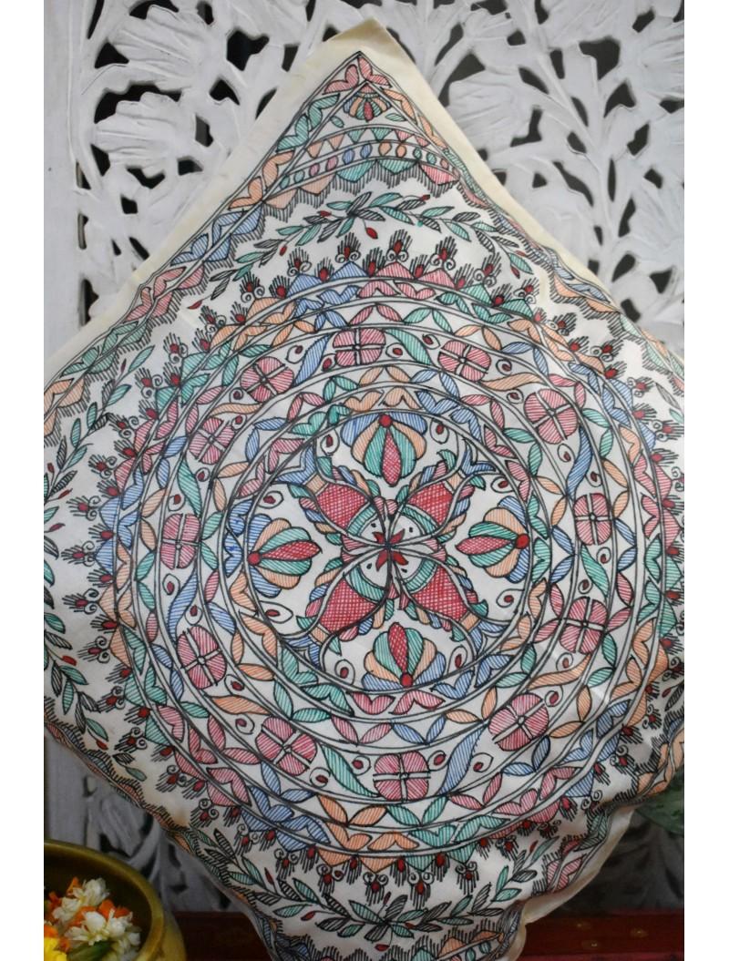 Meen Madhubani Cushion Cover-Set Of 5