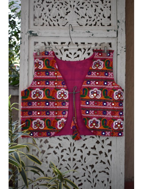 Pink Kutch Digital Embroidery  Jacket
