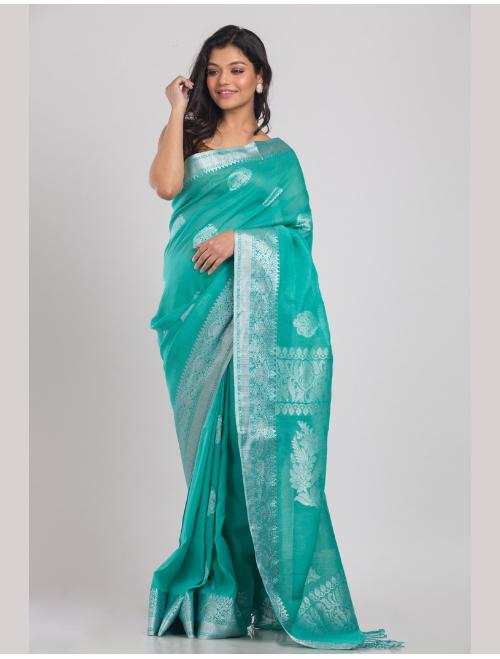 Kohinoor Banarasi cotton linen Firoja sa...