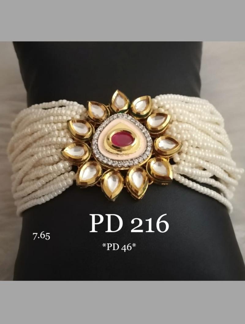 Golden Kundan,Stone Beads Bracelet