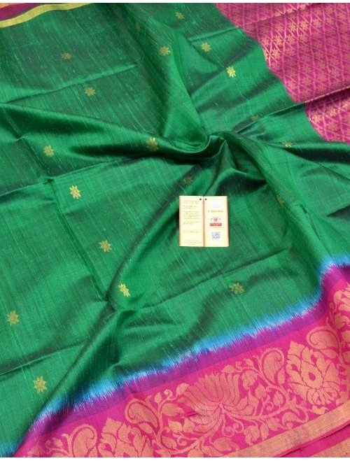 Aahana Green And Pink With Zari Work Dup...