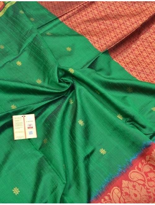 Aahana Green And Red With Zari Work Dupi...