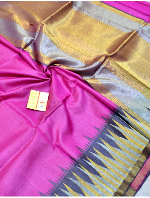 Anamika Pink With Golden Border Intricat...
