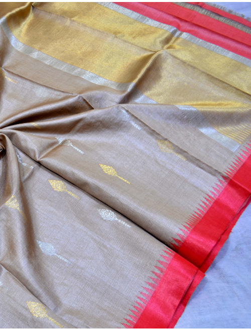 Aaradhya Grey Red Border With Booti Intr...