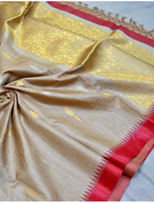 Aaradhya Beige With Golden Booti Intrica...