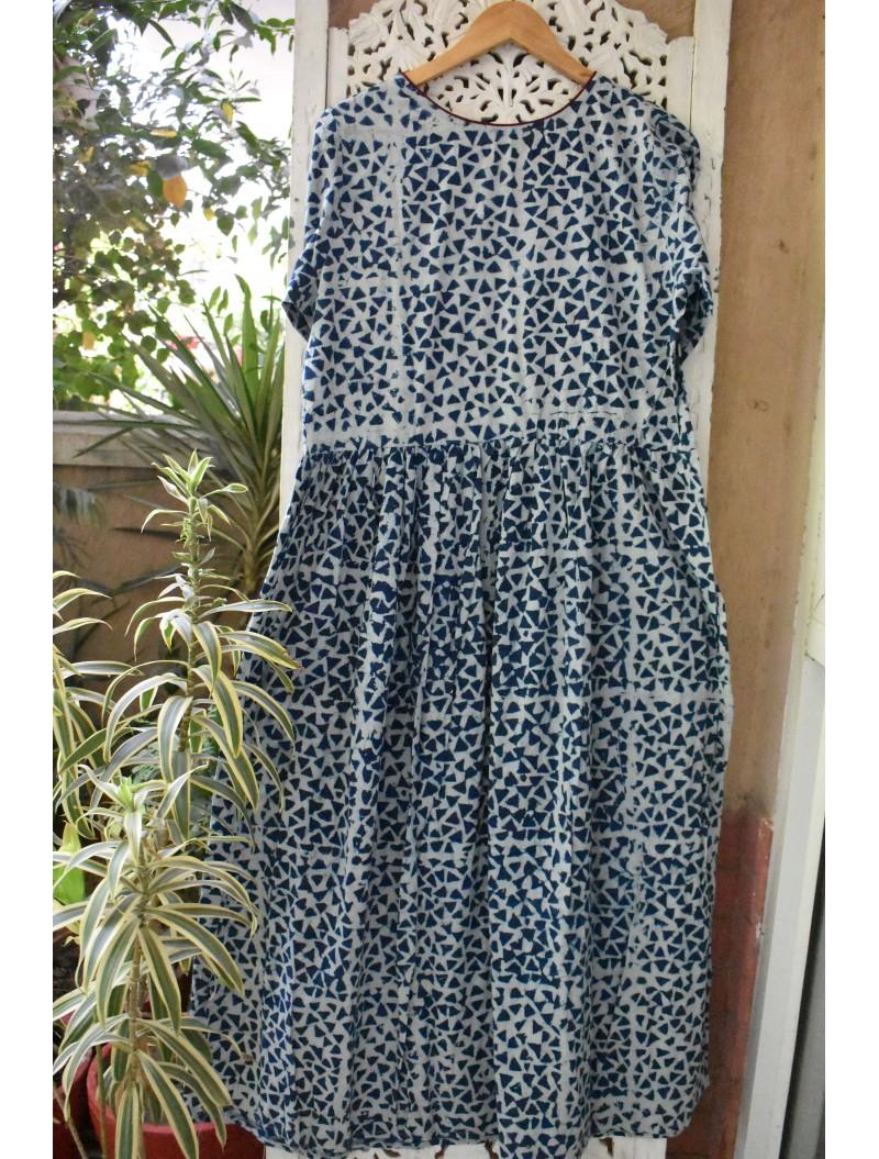 Bagru Handblock printed Maxi- Dress