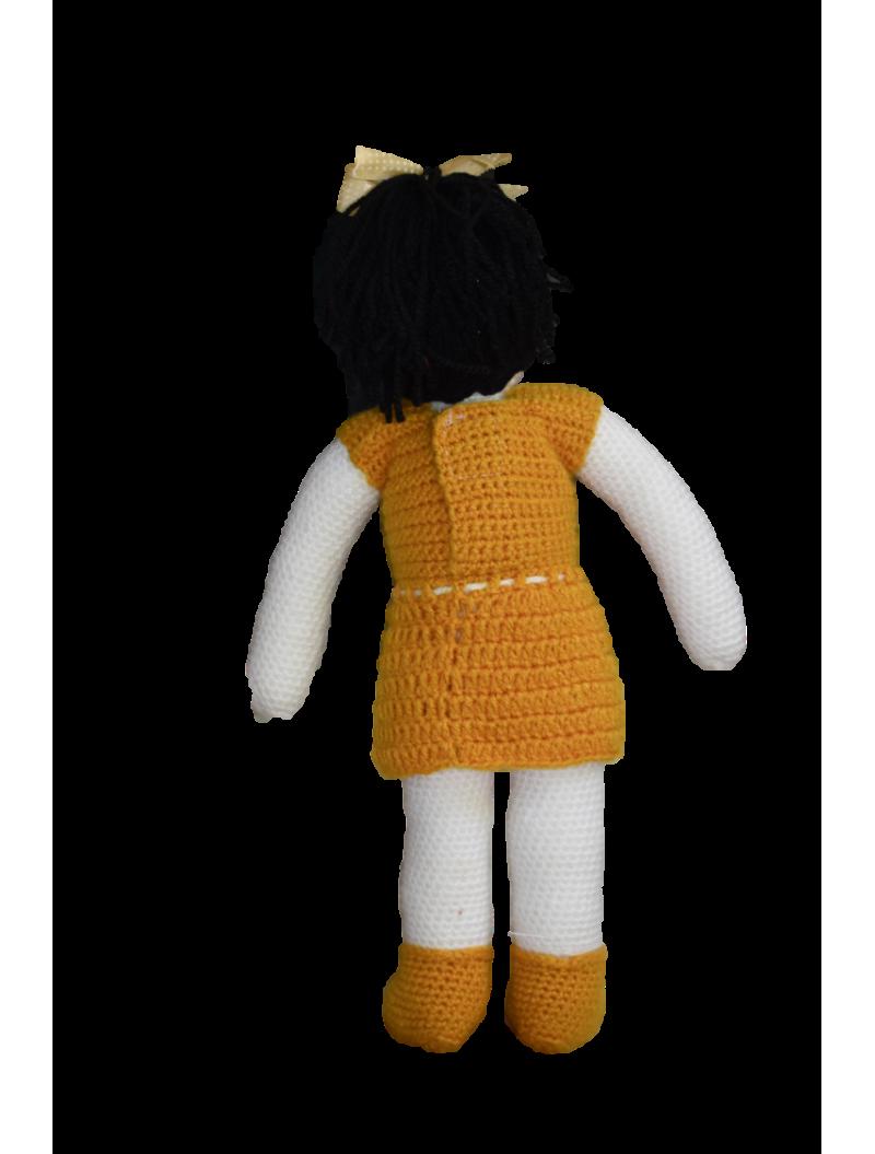 Handmade Crochet Doll- Yellow