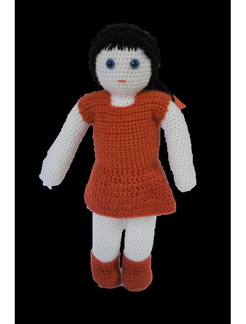 Handmade Crochet Doll- Red